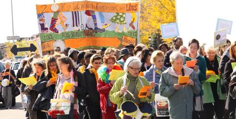 À la Marche mondiale des femmes 2010