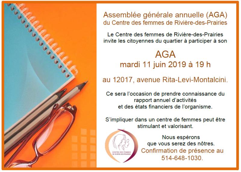 Invitation à notre AGA le 11 juin
